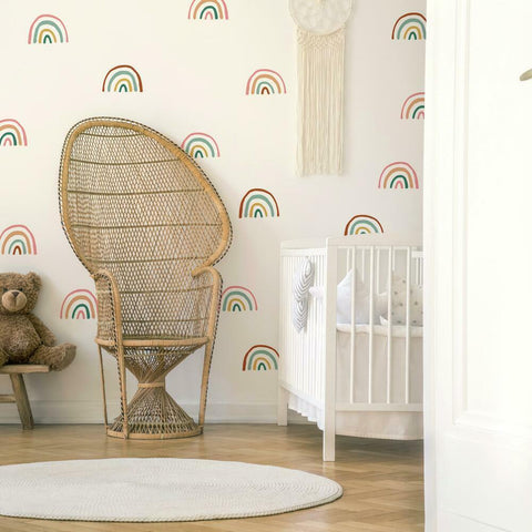 RETRO RAINBOW PEEL AND STICK WALL DECALS