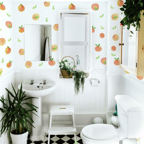 SWEET PEACHES PEEL AND STICK WALL DECALS