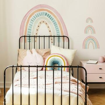 WATERCOLOR RAINBOW PEEL AND STICK GIANT WALL DECAL