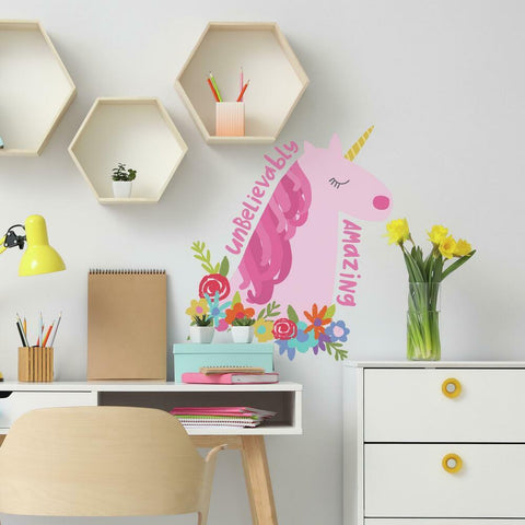 AMAZING UNICORN GIANT PEEL AND STICK WALL DECALS