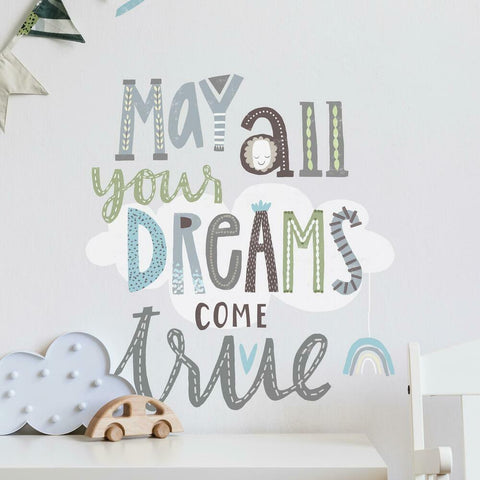 DREAMS COME TRUE PEEL AND STICK WALL DECALS