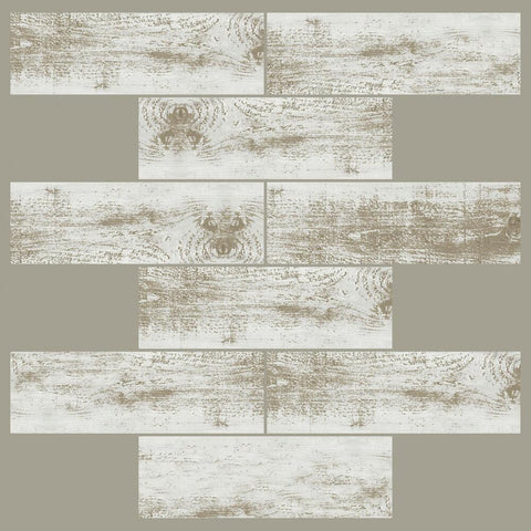 DISTRESSED WOOD SUBWAY STICKTILES - 4 PACK
