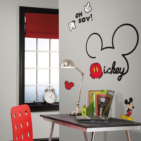 MICKEY MOUSE - ALL ABOUT MICKEY PEEL AND STICK GIANT WALL DECALS