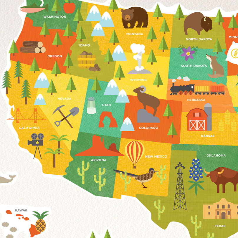 United States Map Wall Decal WallDecalscom - Us map wall decal