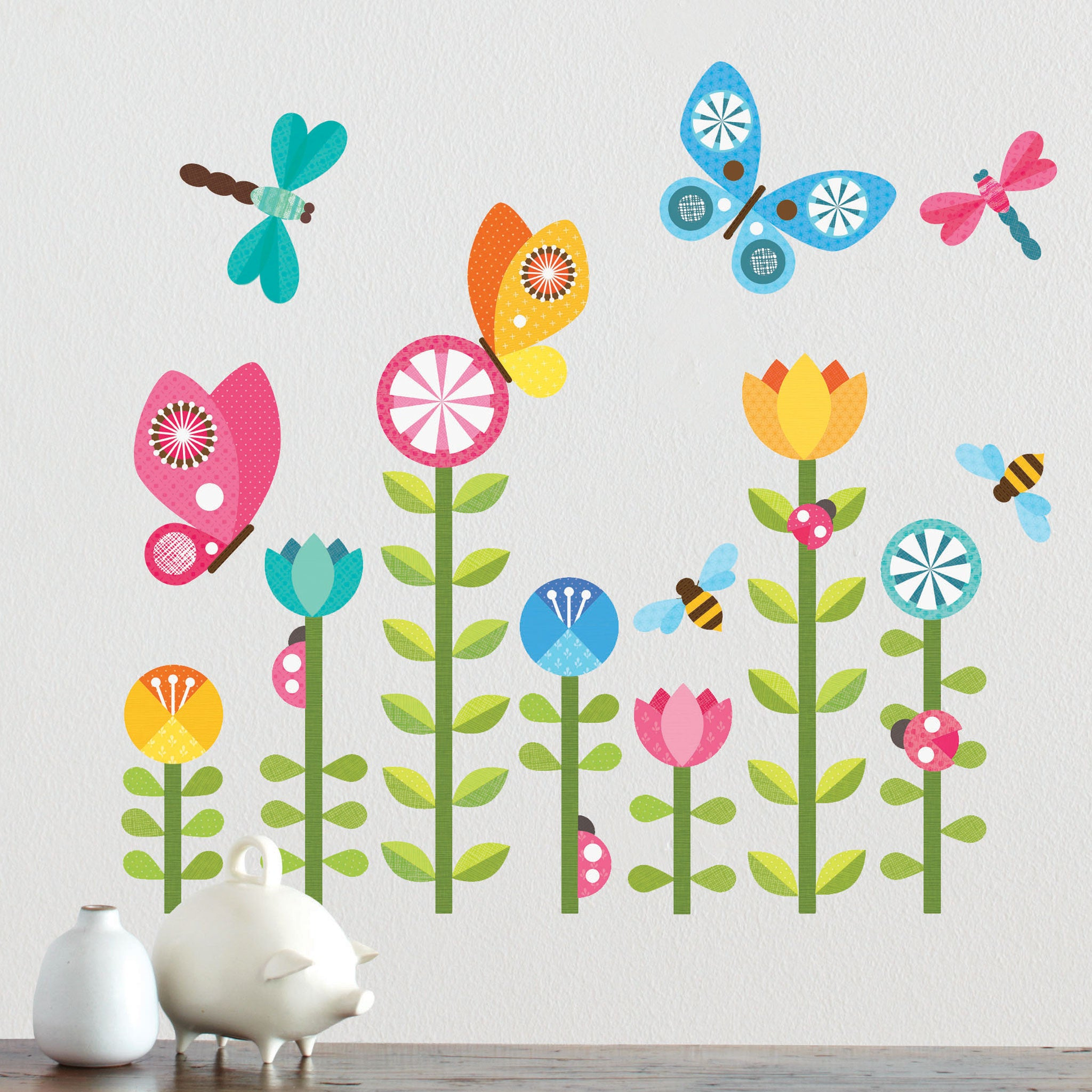 Butterflies wall decal for Childrens wall mural stickers