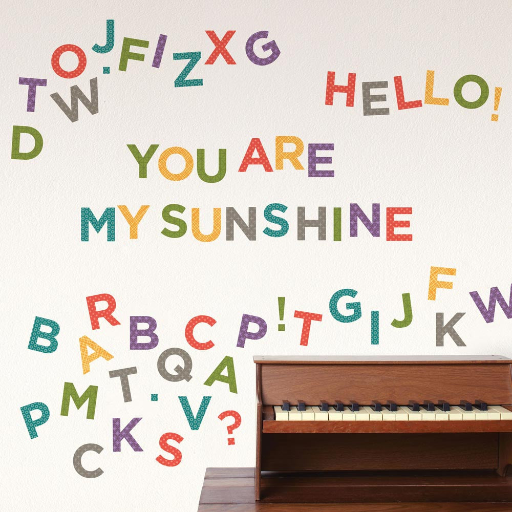 kids wall decals walldecals com letters fabric wall decal