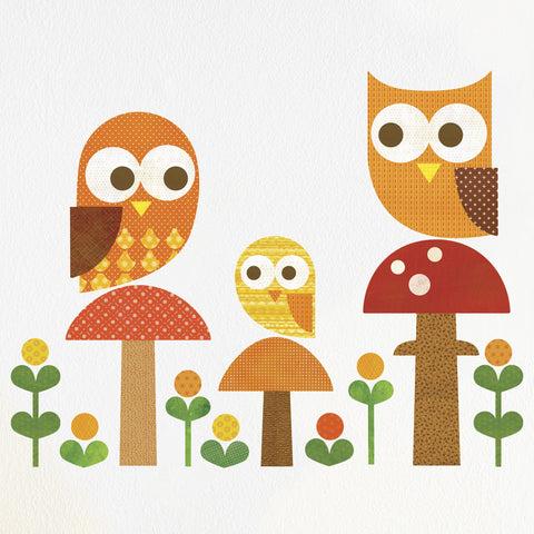 Owl Family Wall Decal