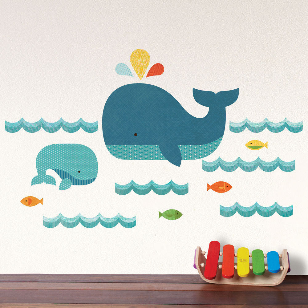 Elegant Whale Baby Wall Decal