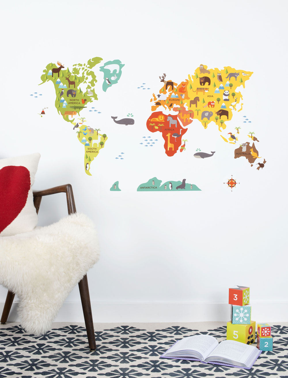World map wall decal walldecals world map wall decal gumiabroncs Image collections