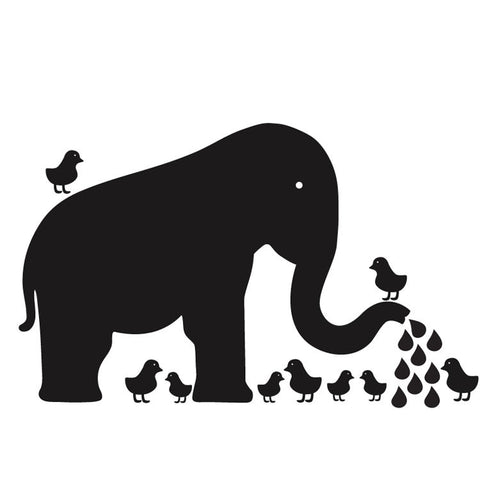 Baby Elephant Chalkboard Wall Decal