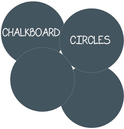 ChalkBoard Circles Big Wall Decal