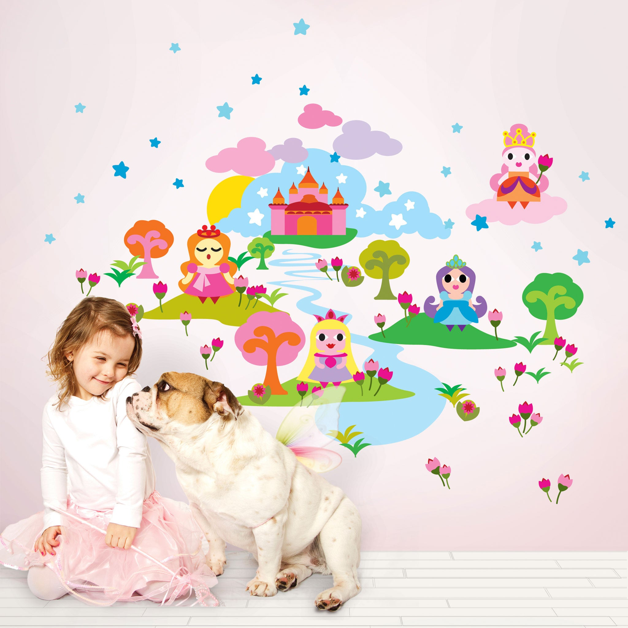 French bull princess wall decal walldecals french bull princess wall decal amipublicfo Gallery