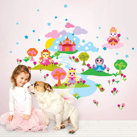 French Bull Princess Wall Decal