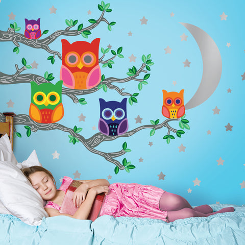 Nightly News 2 Owl Wall Decals