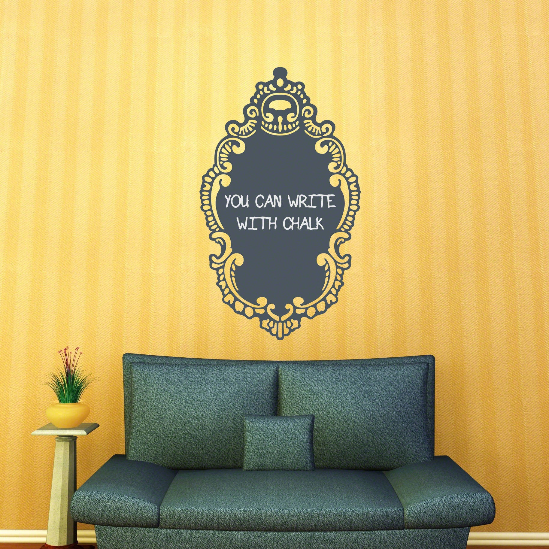 Rococo Chalkboard Wall Decal WallDecalscom - Wall decals you can write on