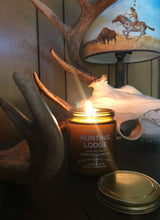 Load image into Gallery viewer, Hunting Lodge Candle by Big White Yeti | 9 oz Amber Jar