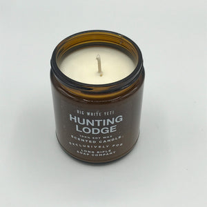Hunting Lodge Candle by Big White Yeti | 9 oz Amber Jar