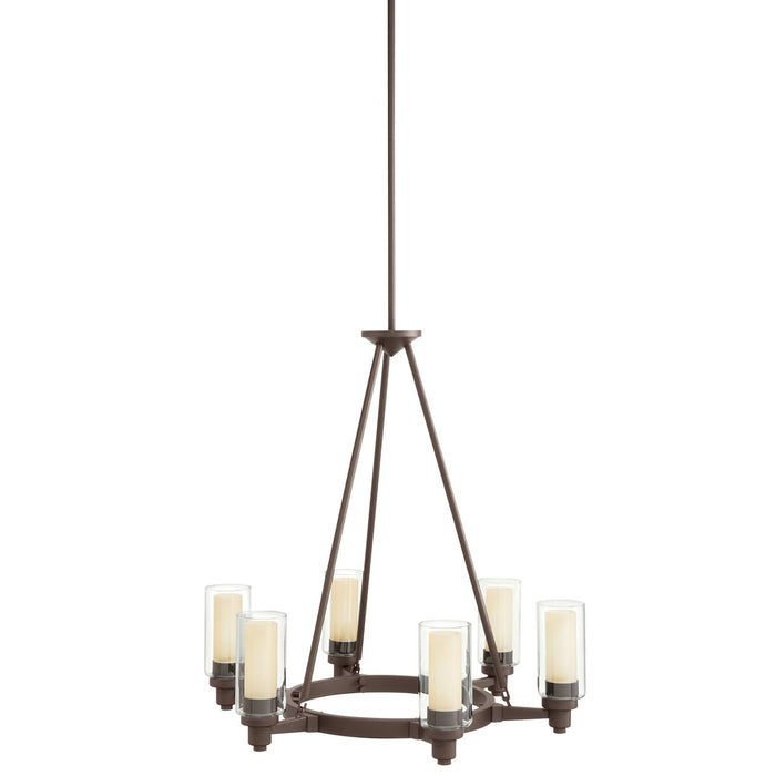 Circolo 6 Light Chandelier Brushed Nickel