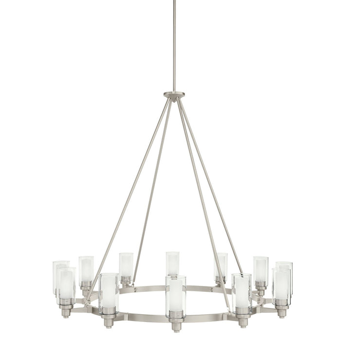 Circolo 12 Light Chandelier Brushed Nickel
