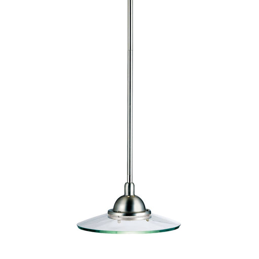 Galaxie 10in. 1 Light Mini Pendant Brushed Nickel