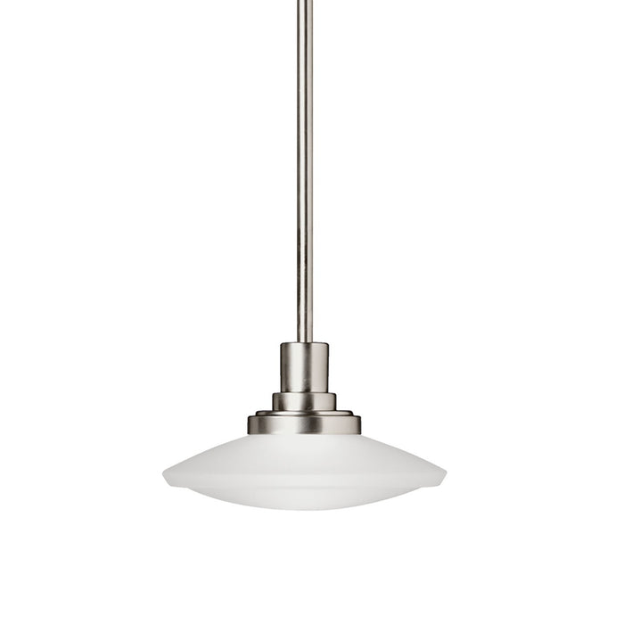 Structures(TM) 1 Light Halogen Convertible Pendant Brushed Nickel