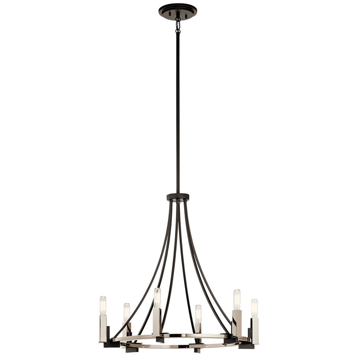Bensimone(TM) 6 Light Chandelier Black