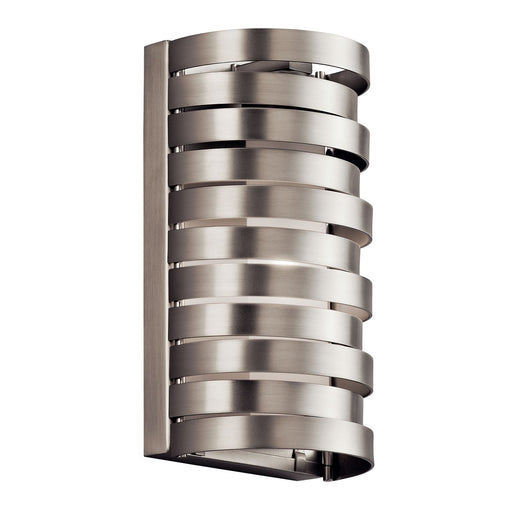 Roswell(TM) 1 Light Halogen Wall Sconce Brushed Nickel