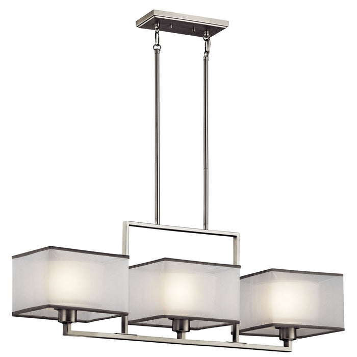 Kailey 3 Light Linear Chandelier Brushed Nickel