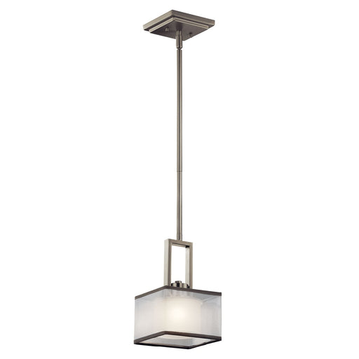 Kailey 1 Light Halogen Mini Pendant Brushed Nickel