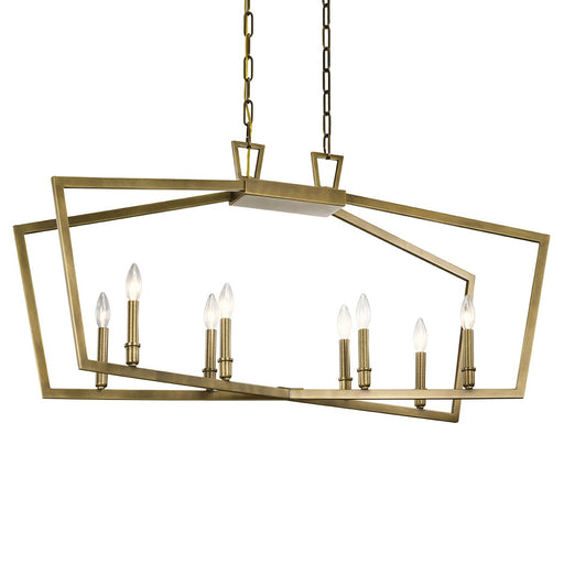 Abbotswell(TM) 8 Light Linear Chandelier Black
