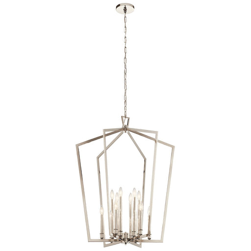 Abbotswell(TM) 12 Light Foyer Chandelier Black