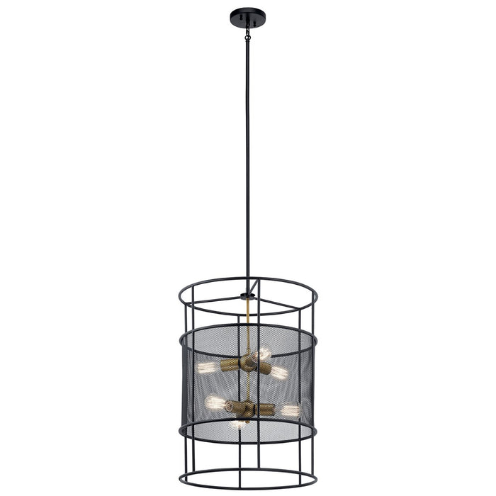 Piston(TM) 9 Light Foyer Pendant Black