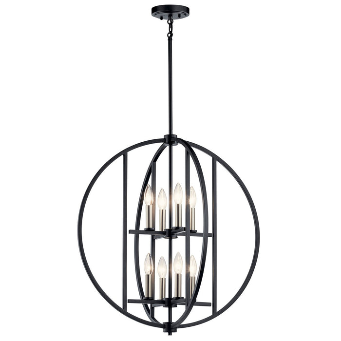 Samural(TM) 8 Light Chandelier in Black