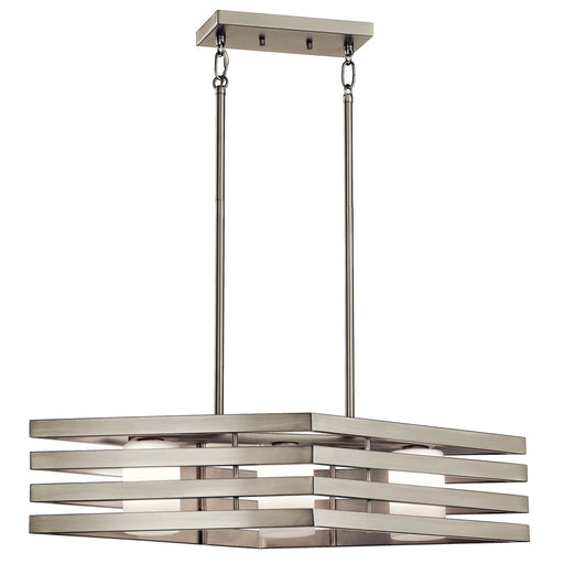 Realta(TM) 3 Light Linear Chandelier Brushed Nickel