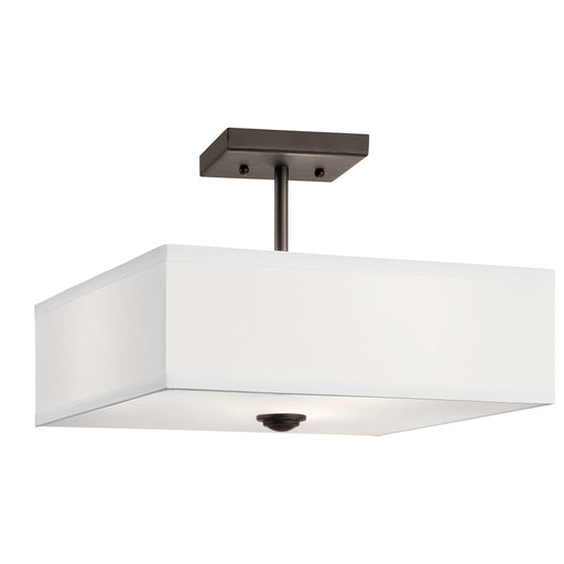 Shailene(TM) 14in. 3 Light Semi Flush Brushed Nickel