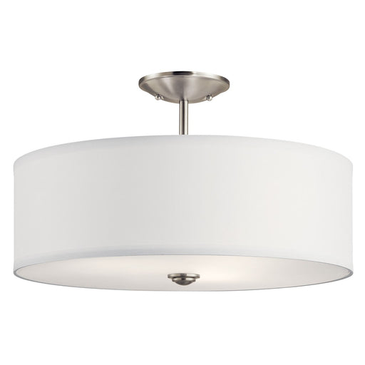 Shailene(TM) 18in. 3 Light Semi Flush Brushed Nickel