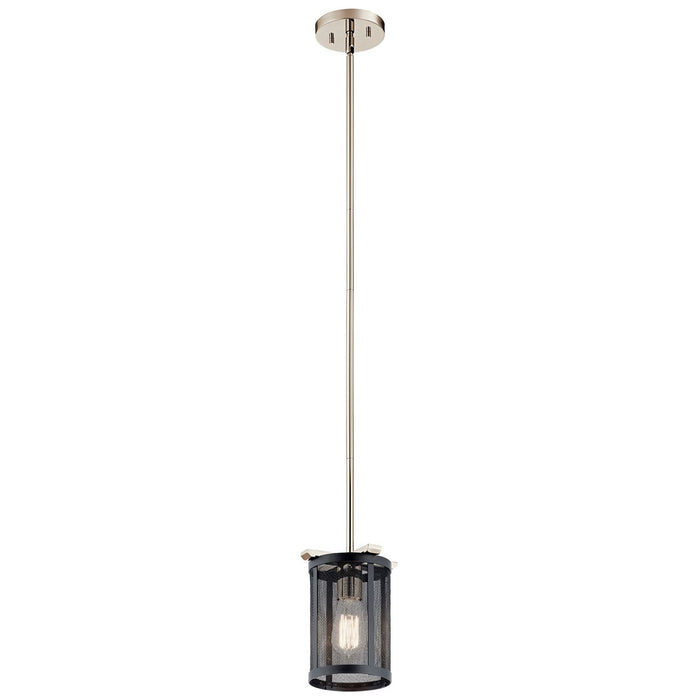 Titus Mini Pendant 1 Light Polished Nickel(TM)