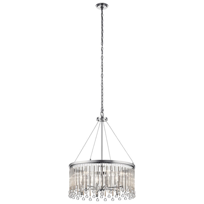 Piper(TM) 6 Light Chandelier Chrome