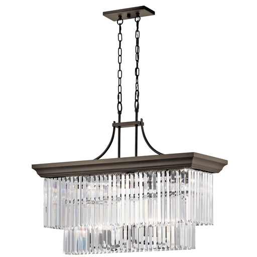 Emile(TM) 12 Light Linear Chandelier Olde Bronze(R)
