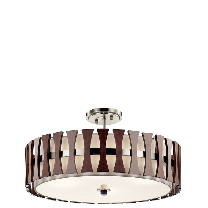 Cirus(TM) 4 Light Convertible Pendant Auburn Stain