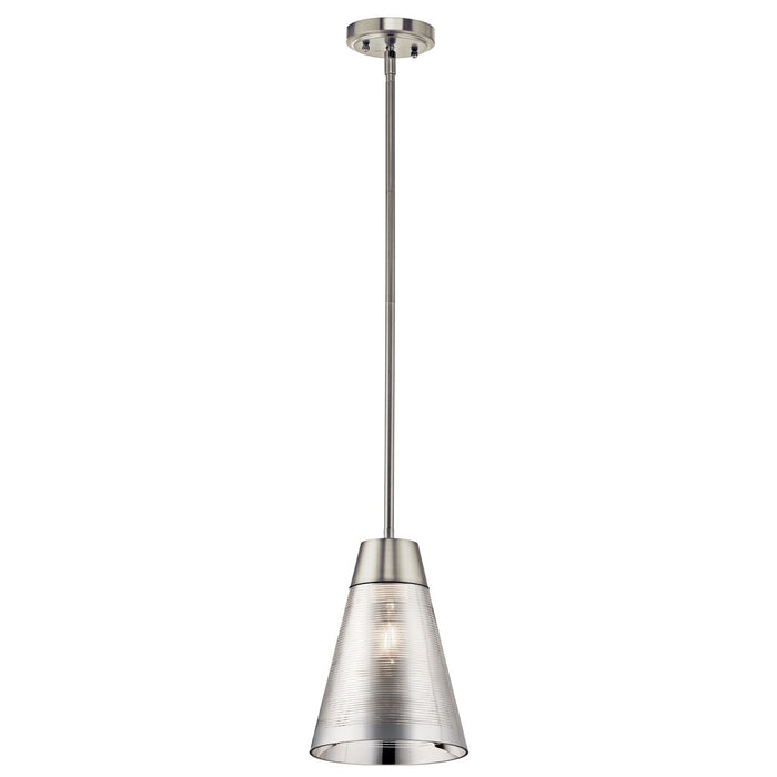 Rowland(TM) 1 Light Mini Pendant Brushed Nickel