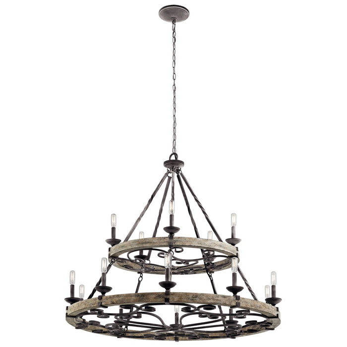 Taulbee(TM) 15 Light Chandelier Weathered Zinc