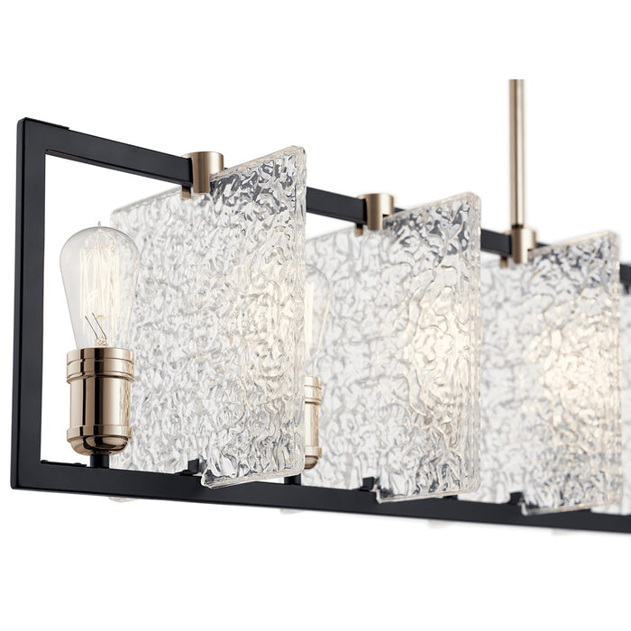 Forge(TM) 7 Light Linear Chandelier Black