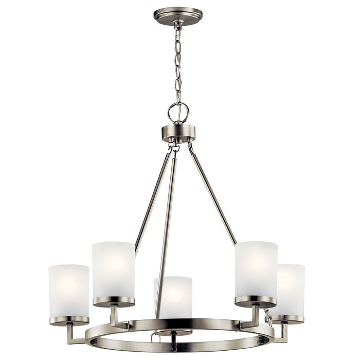 Daimlen(TM) 5 Light Chandelier Brushed Nickel