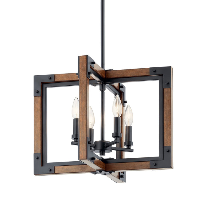 Marimount 4 Light Chandelier/Semi Flush