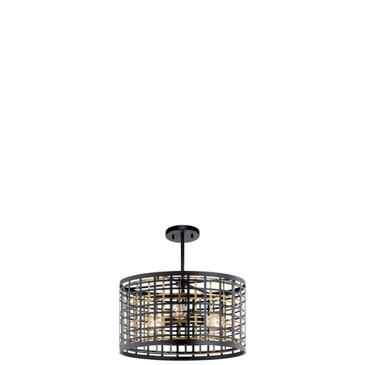 Aldergate 3 Light Convertible Pendant Black