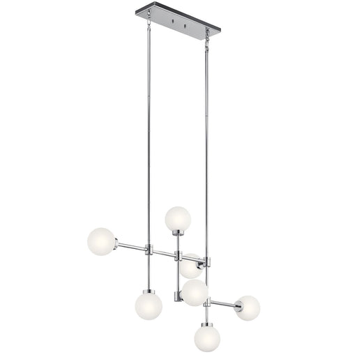 Aura(TM) 7 Light Linear Chandelier Chrome