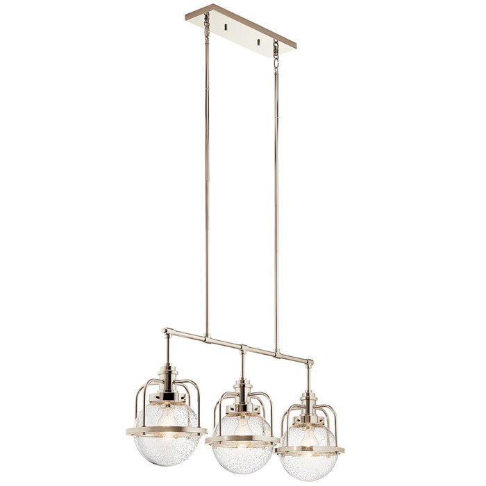 Triocent 3 Light Linear Chandelier Polished Nickel(TM)