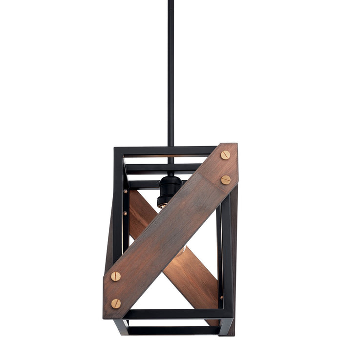 Fulton Cross(TM) 1 Light Pendant Black