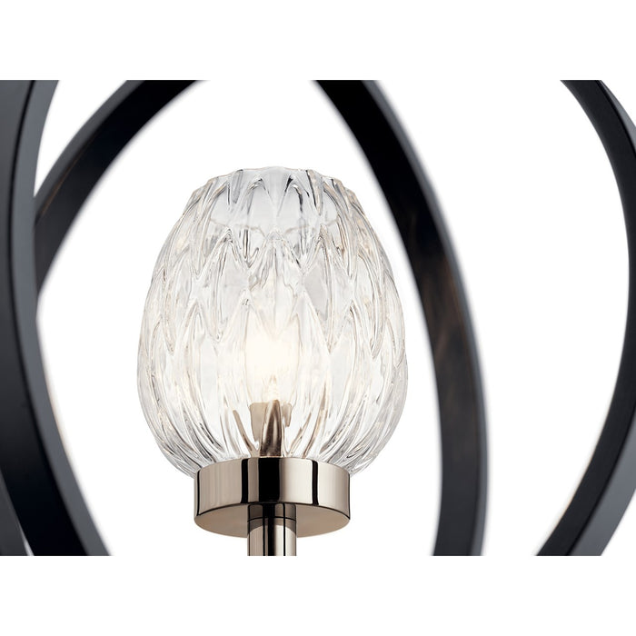 Moyra 1 Light Pendant Black